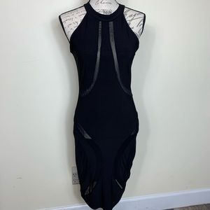 Eien Sleeveless Fitted Sexy Sheer Body Con Mesh